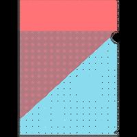 クリアファイル A4サイズ(オレンジ×水色)