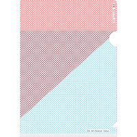 クリアファイル A5サイズ(オレンジ×水色)