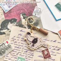 猫たちの郵便局 キーリング(トラ)【nemunoki】