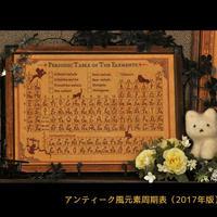 アンティーク風元素周期表【アルケミノート】