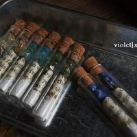 廃墟の鉱物試験管 ペンダント アメジスト【violet[xxx]+s】