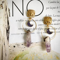 Vintage Buttons Jewelry (Amethyst)