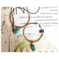 Greek gemstones hoop earrings