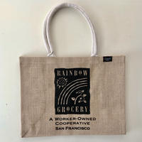 Rainbow Grocery オリジナル ROYAL JUTE TOTE BAG