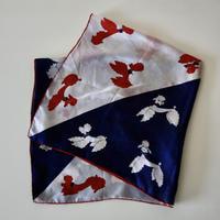 vintage scarf プードル柄のシルクスカーフ