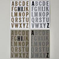 アルファベット レタープレスカード by Noreen Rei Fukumori 4枚セット