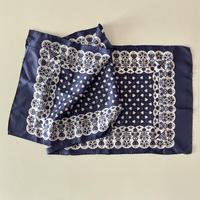 vintage scarf 花とハートをあしらった細長いスカーフ