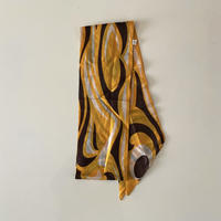 vintage scarf パンプキンカラーとブラウンのロングスカーフ