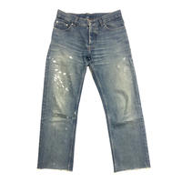 1998 HELMUT LANG Painted denim Size 28