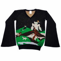 """02AW UNDERCOVER """"witch's cell division"""" Collection knit size M"""
