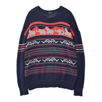 "1997SS UNDERCOVER  ""ELEPHANT"" Elephant knit sweater Size Free"