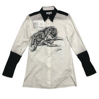 "19AW Yohji Yamamoto POUR HOMME ""朝倉優佳 Collaborate"" Rin painted shirts Size 2"
