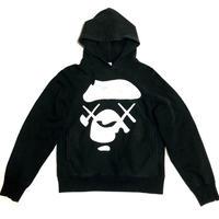 2005 A BATHING APE × KAWS Big ape face hoodie size S