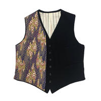 "95AW YOHJI YAMAMOTO POUR HOMME ""鹿鳴館"" Japanese paper change vest"