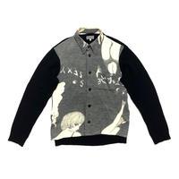 07AW Yohji Yamamoto POUR HOMME × 石ノ森章太郎 Girls knit shirt Size 3