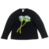 """95AW Yohji Yamamoto POUR HOMME """"鹿鳴館"""" Intasaria Mohair Sunflower Knit  Size M"""