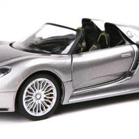 【新品】1/18 ポルシェ918Porsche モデルカー ブラック シルバーグレー
