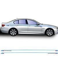 BMW用 ステッカー スタイリング サイド 5シリーズ F10 F11 F07 E60 E61