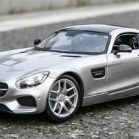 【新品】1/18 メルセデスベンツ Benz AMG GT モデルカー イエロー シルバーグレー