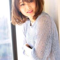 【新規】「ワンランク上のツヤ」小顔カット+シースルーカラー+トリートメント ¥17,050→¥12,000
