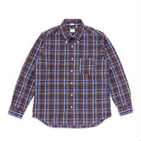 Workers Modified BD Shirt Dark Madras