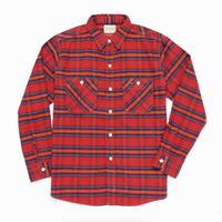 Boncoura Flannel Shirt Red Tartan