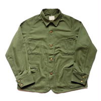 Boncoura Railroad Jacket English Twill Olive