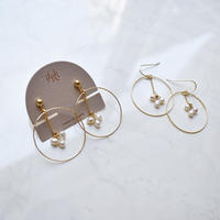 hoop in tansui pearl hook earring / pierce