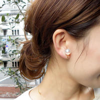 e083/p189  miracle pearl earring / pierce M