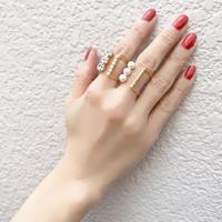 r036 bijou × pearl  wide ring