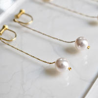 e088 swaro-pearl chain earring  M