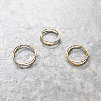 r047 gold×silver combi X ring