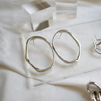 sv022/p216 silver925   déformer ring design pierce