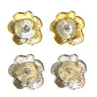 e079  fields solid flower motif earring