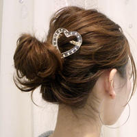 heart parts in the clear barrette