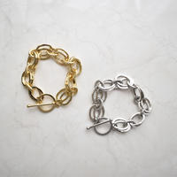 b020 metal oval chain bracelet