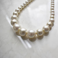glosy pearl mix necklace M