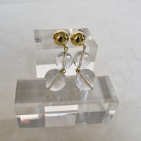 s322  triple clear ball earring / pierce