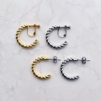 metal twist pierce / earring