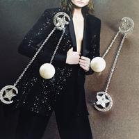 star  × pearl chain pierce