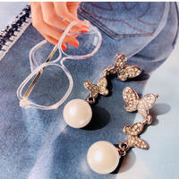 butterfly pearl pierce