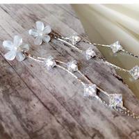 flower stone chain pierce