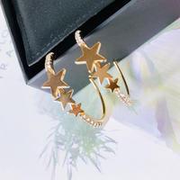 star stone hoop  pierce