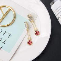 ruby clover long pierce