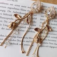 vintage flower long pierce