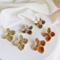 leather flower metal pierce