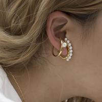 Pearl ear cuffs 2set