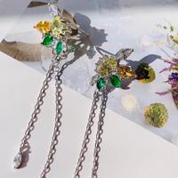 spring colour stone long pierce