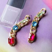 chain × bijou long pierce