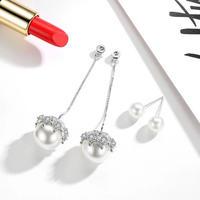 pearl jewelry long chain  pierce